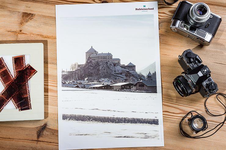 """Plakat Kufsteinerland """"Festung Kufstein Winter"""""""