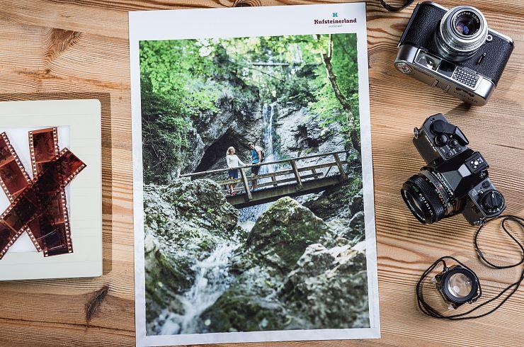 """Plakat Kufsteinerland """"Wasserfall"""""""